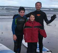 Mick Kelly on the West Coast of Ireland with Kids
